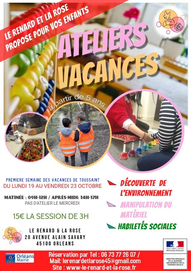 Ateliers vacances Toussaint